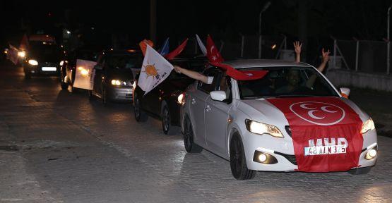AK Partililer, Yatağan'da zafer turu attı