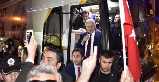 Başbakan Yıldırım'a, Yatağanlılardan sürpriz karşılama
