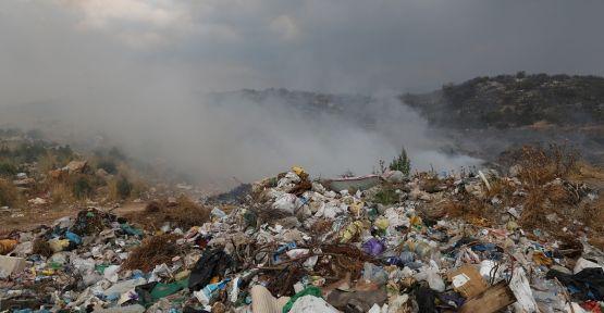 Bozüyük'te çöplük yangını orman arazisine sıçradı