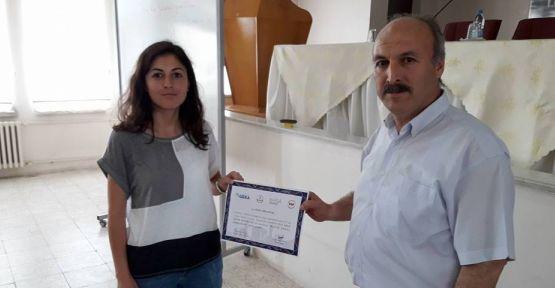 GEKA destekli eğitime katılanlara belgeleri verildi