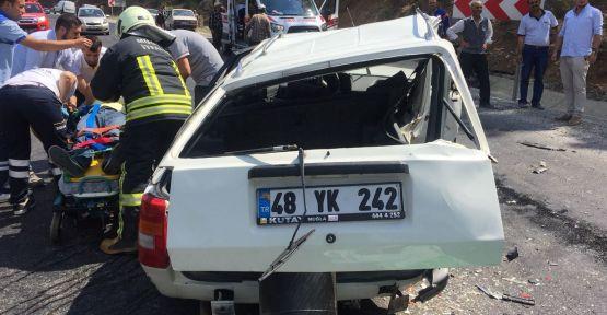 Kavaklıdere'de zincirleme trafik kazası: 3 yaralı