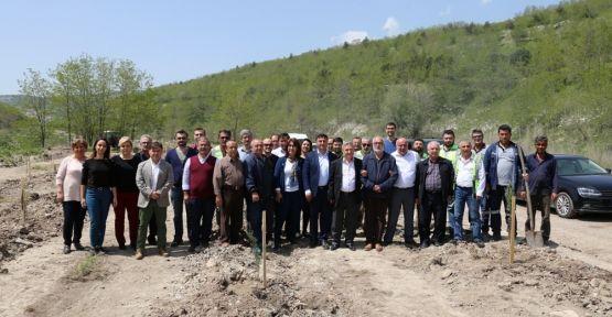 Maden sahasına 2 ayda 91 bin 200 fidan dikildi