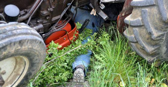 Mucize kurtuluş! Traktörün altından sağ kurtuldu