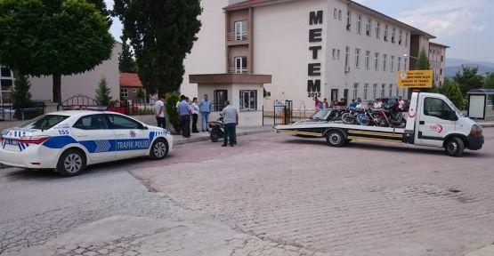 Polisten motosiklet sürücülerine 9 bin lira ceza