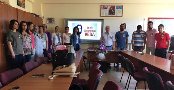 Şehit Düşen Şenay Öğretmen, Yatağan'da anıldı