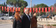 ADD Yatağan Şubesi de anıta çelenk koydu