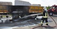 Alev alan kamyon paniğe neden oldu