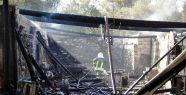 Gökpınar'da marangoz atölyesinde yangın