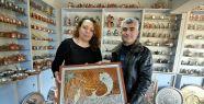 Karı-koca, mermer ile bakırı sanat eserlerinde...
