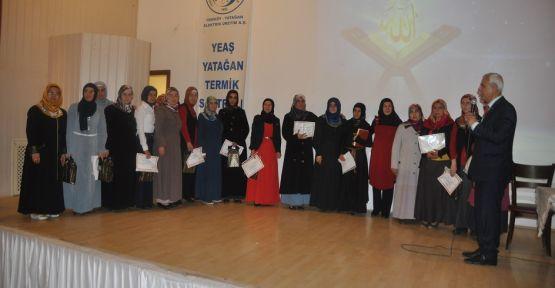 Törenle katılım belgeleri verildi