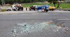 Yatağan'da otomobil traktöre çarptı: 5 yaralı