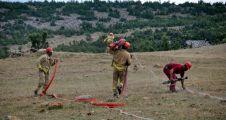 Orman İşletme tarafından hortum serme yarışması yapıldı