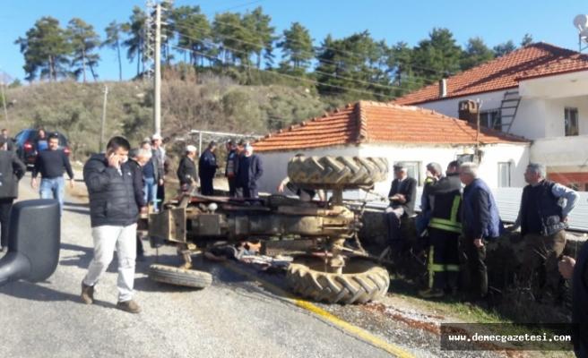 Bencik'te traktör devrildi: 1 ölü, 1 yaralı