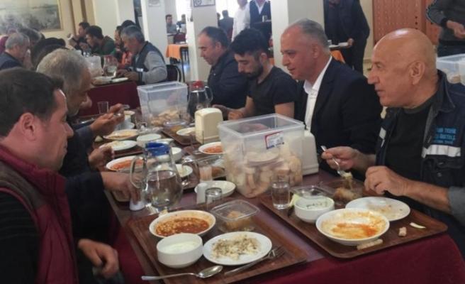 Serdaroğlu, enerji ve maden işçileriyle bir araya geldi