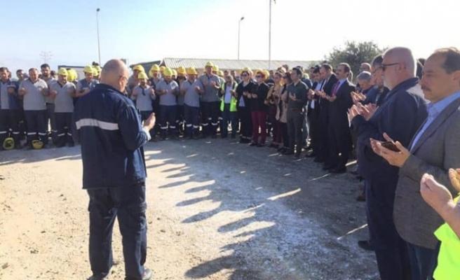 Maden ocağında 2019 dekapaj sezonu kurban kesilerek açıldı
