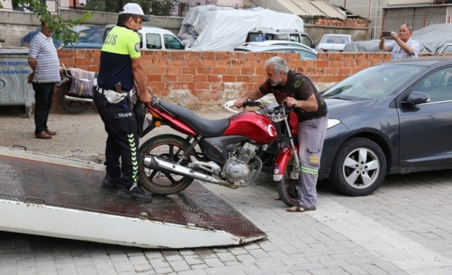 Emniyet, 34 motosiklet ve 41 otomobili trafikten men etti
