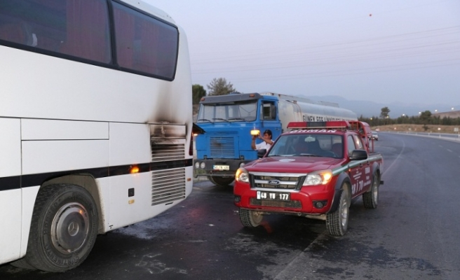 Otobüs yangını faciasını, orman ekipleri engelledi