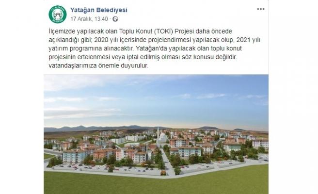 Yatağan'ın TOKİ'si 2021 yatırım programına alınacak