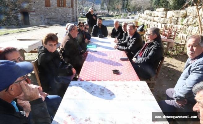 Stratonikeia'daki mal sahipleri, CHP heyetiyle görüştü