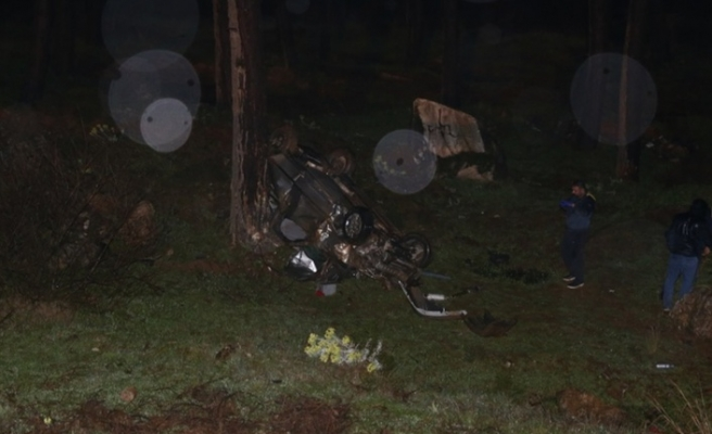 Virajı alamayan otomobil uçuruma yuvarlandı: 1 ölü