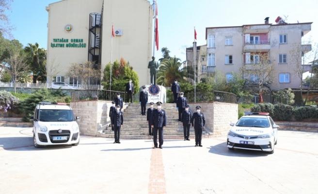 Sosyal mesafeli 10 Nisan Polis Günü kutlaması