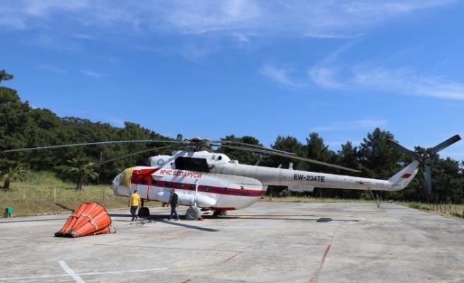 Muğla'da ilk yangın helikopteri Marmaris'te göreve başladı