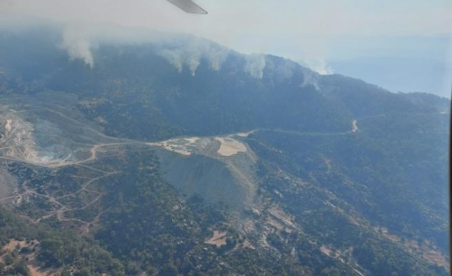 Gökbel Dağı'ndaki yangın sürüyor