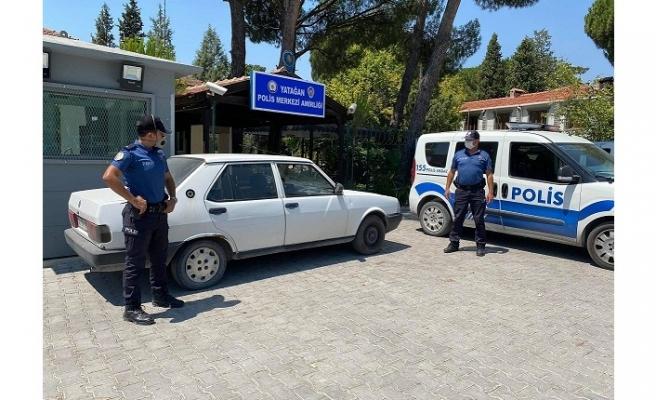 Yatağan'da çalınan otomobil, Marmaris'te ele geçirildi