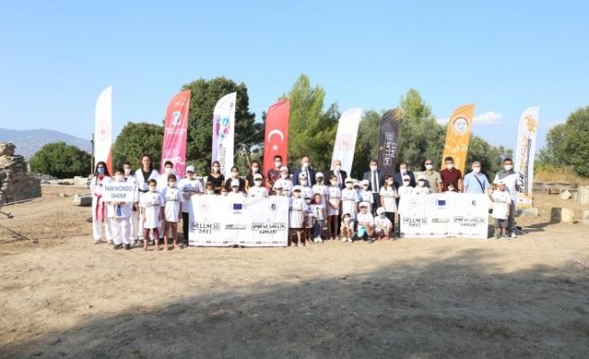 """Lagina'da """"Avrupa Spor Haftası"""" etkinliği yapıldı"""