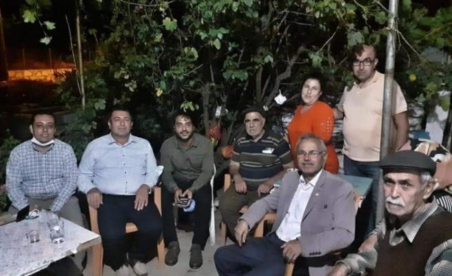 CHP'li Alban, yangının ardından soluğu Çaybükü'nde aldı