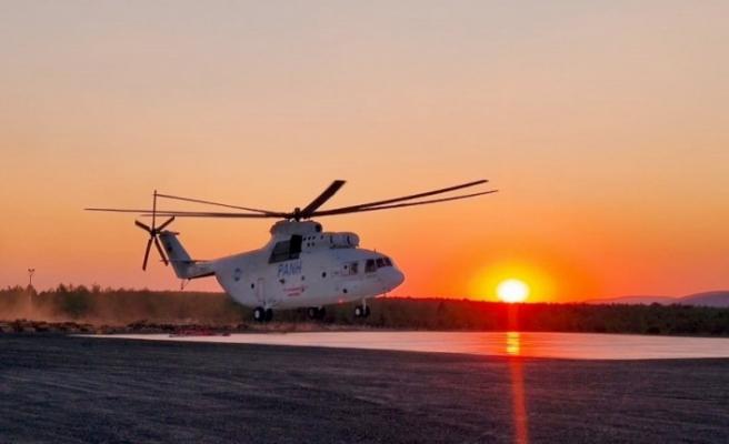 """Muğla'da """"Kartal Helikopterin"""" görevi sona erdi"""