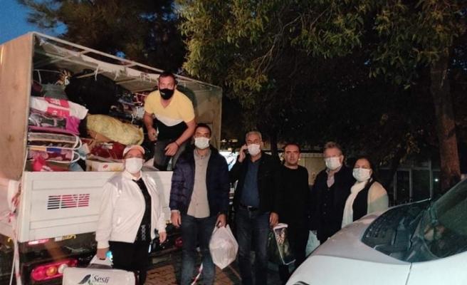 Depremzedelere bir destek de CHP Yatağan'dan!