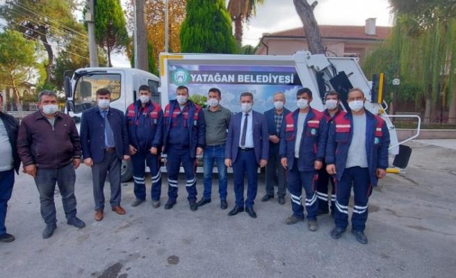 Yatağan Belediyesi araç parkına yeni çöp toplama kamyonu
