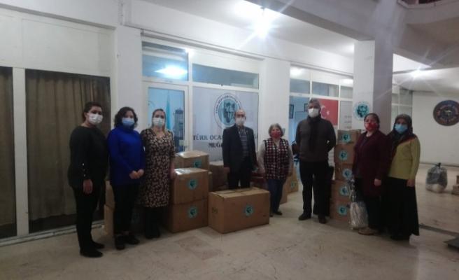 Muğla Türk Ocakları'ndan Şemdinli'ye yardım