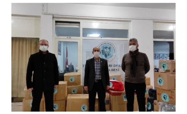 Muğla Türk Ocakları'ndan Şemdinli'ye yardım kolisi