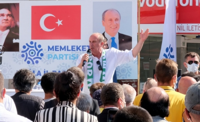 Memleket Partisi Genel Başkanı Muharrem İnce Muğla'da