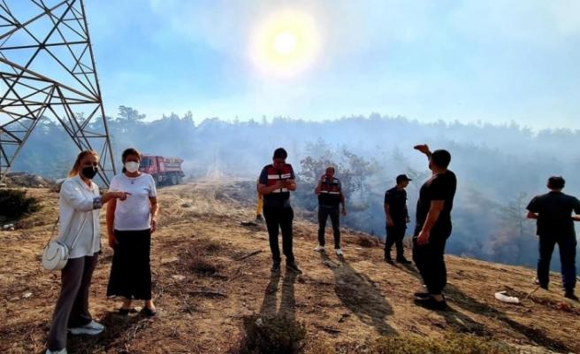 Yatağan'daki orman yangınları kısa sürede söndürüldü