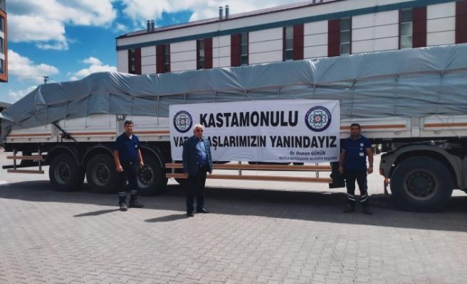 MUĞLA'DAN KASTAMONU'YA DESTEK DEVAM EDİYOR
