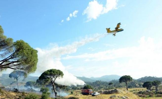 2 Helikopter, 1 uçak= 2 Dönüm Yangın