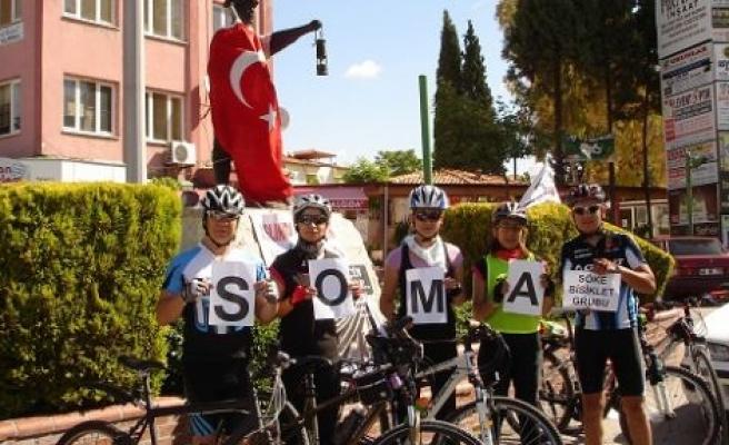 Bisikletçilerden, Yatağan'a Anlamlı Ziyaret !?