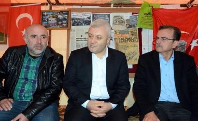 Biten eylemin ardından ilk ziyaret Tuncay Özkan'dan