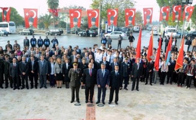Büyük Önder Atatürk'ün ebediyete intikalinin 76. yılında anıldı
