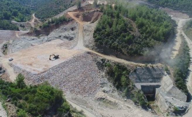 Girme Barajı inşaatı hızla devam ediyor