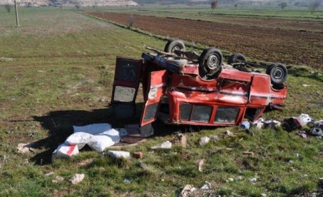 Kafaca Yolunda Kaza: 1 Ağır, 2 Yaralı
