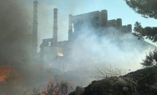 Santral'de korkutan yangın