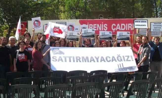TKP'DEN DİRENİŞ ÇADIRINA ZİYARET