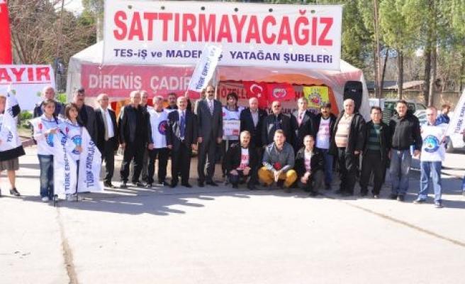 Türk Enerji-Sen'den Direniş Çadırı Çıkarması