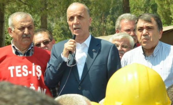 """Türk-İş Genel Başkanı Atalay: """"Ne zaman bana ihtiyacınız varsa ben oradayım"""""""