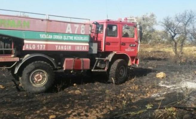 Yatağan'da ziraat arazisi yangını