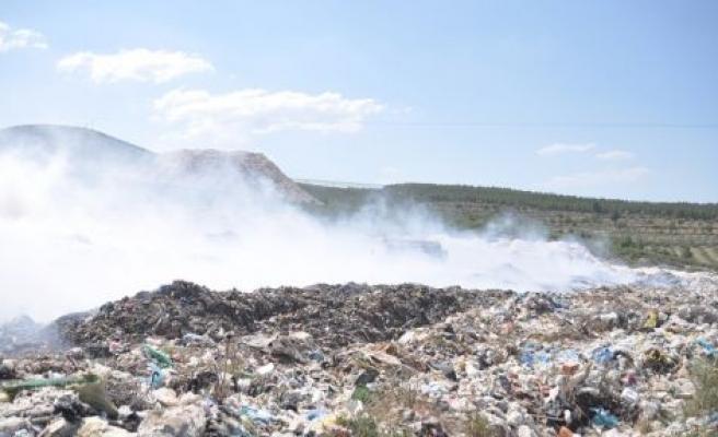 Yatağan'daki çöplükte yangın çıktı